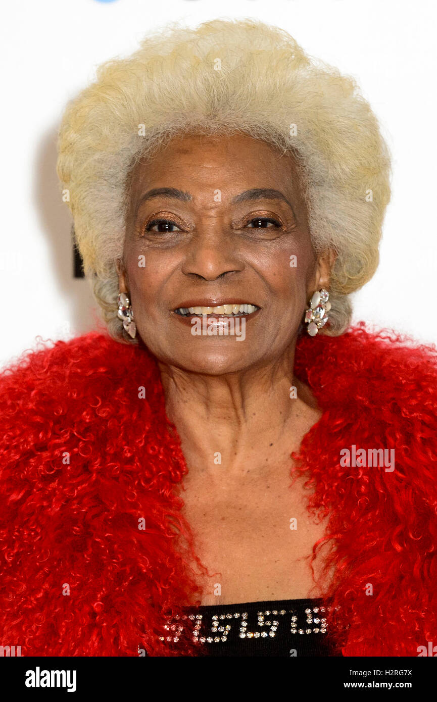 London, UK. 1st October, 2016. Nichelle Nichols, Star Trek's original Lieutenant Uhura celebrates Star Trek - Stock Image