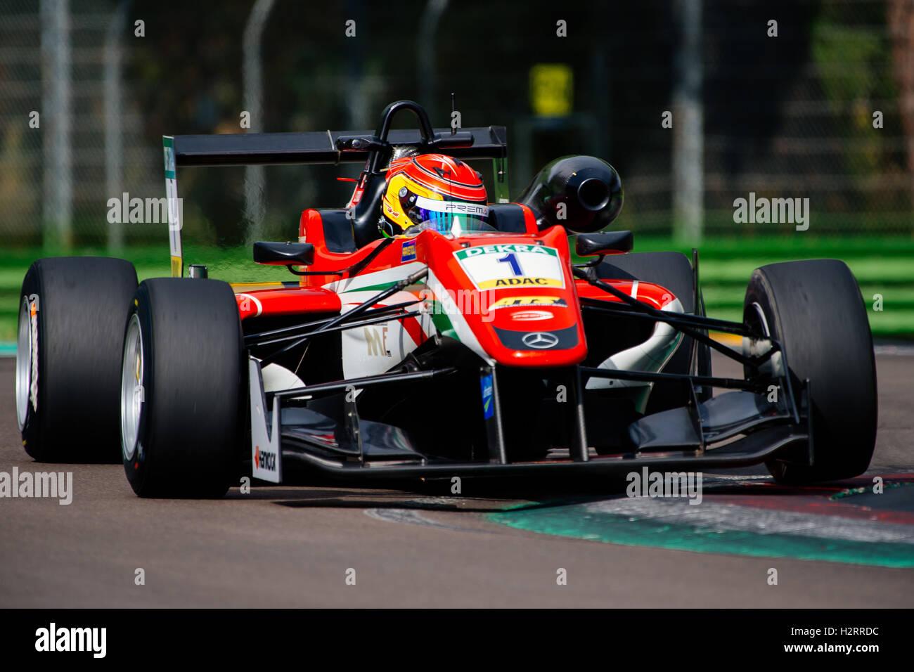 Imola Italy 02nd Oct 2016 Prema Powerteam S Driver Lance Stroll Stock Photo Alamy