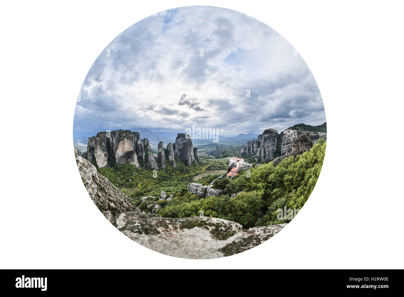 Meteora monasteries - Stock Image