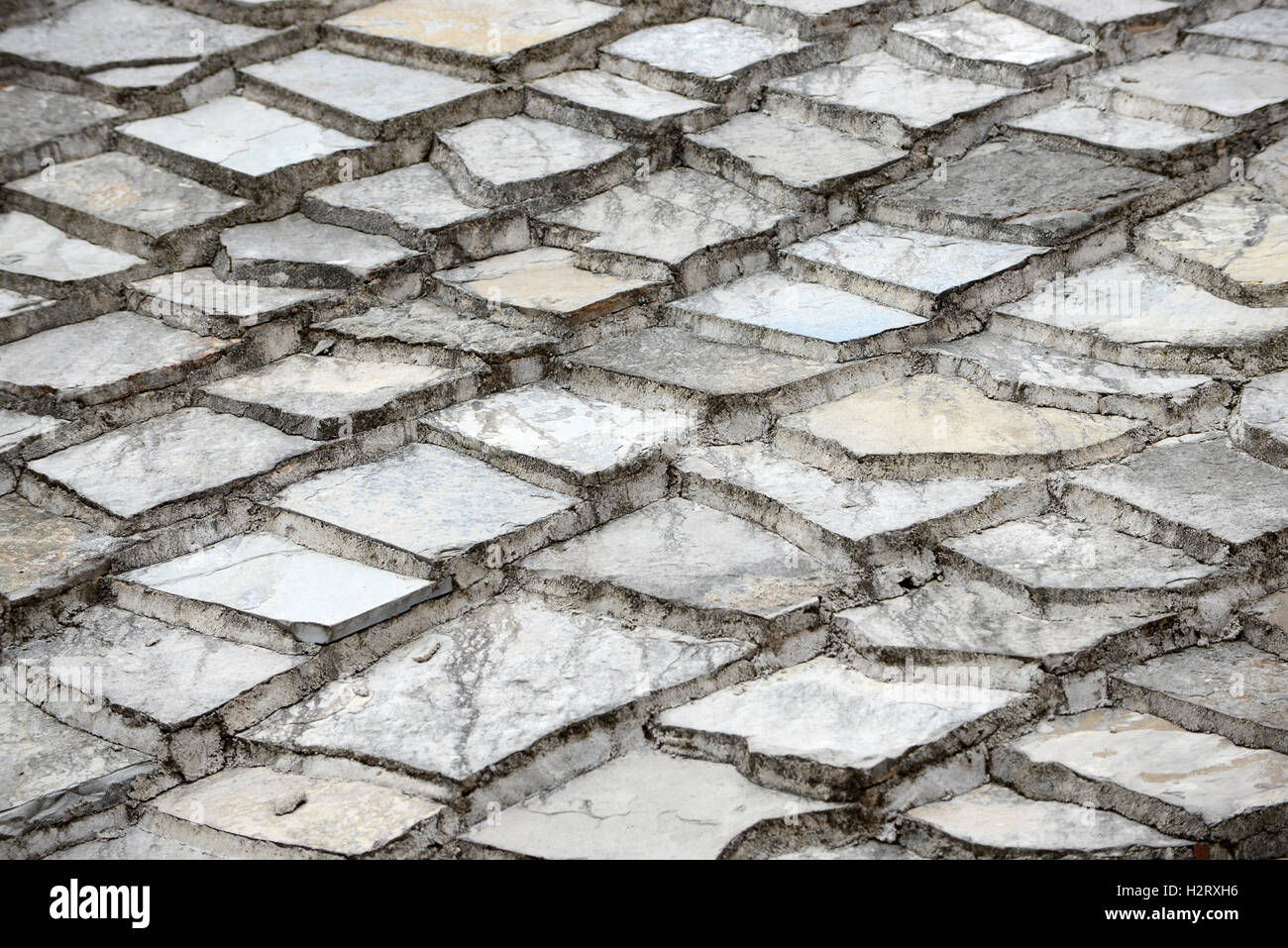 Detail of typical stone roofs in Mostar Bosnia Herzegovina. - Stock Image