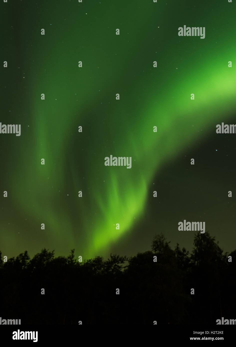 Aurora over Volda, Norway - Stock Image