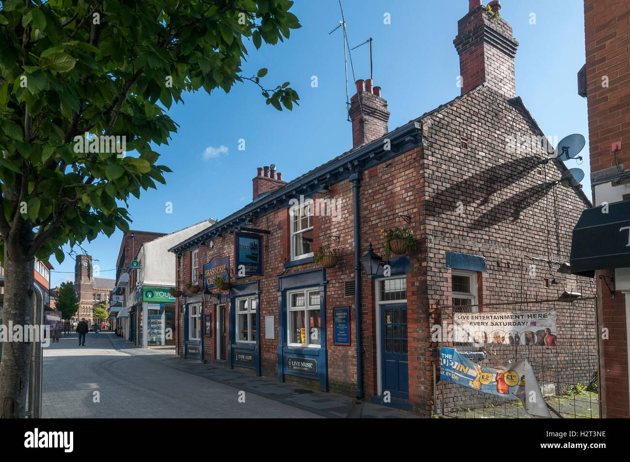 The Brasserie Chalon public house in St Helens town centre. Merseyside North West England. - Stock Image