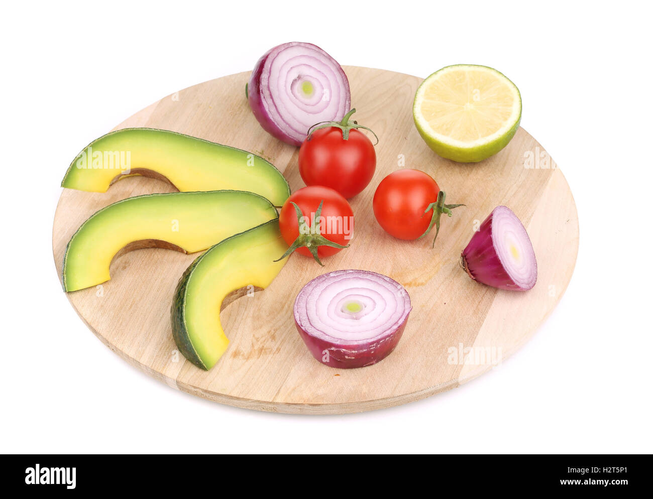 Fresh vegetables on platter. Stock Photo