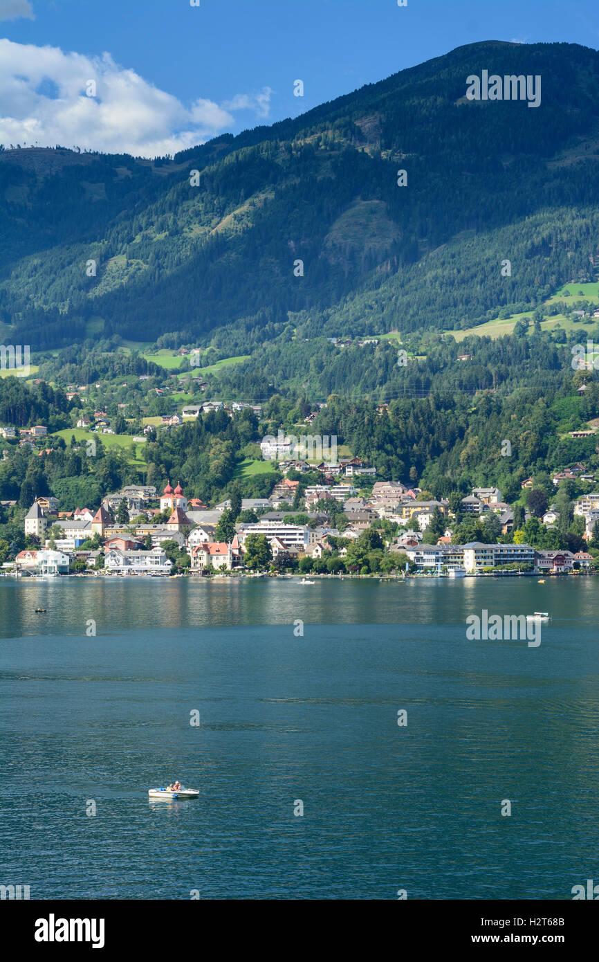 Millstätter See, Lake Millstatt: view to town Millstatt, , Kärnten, Carinthia, Austria - Stock Image