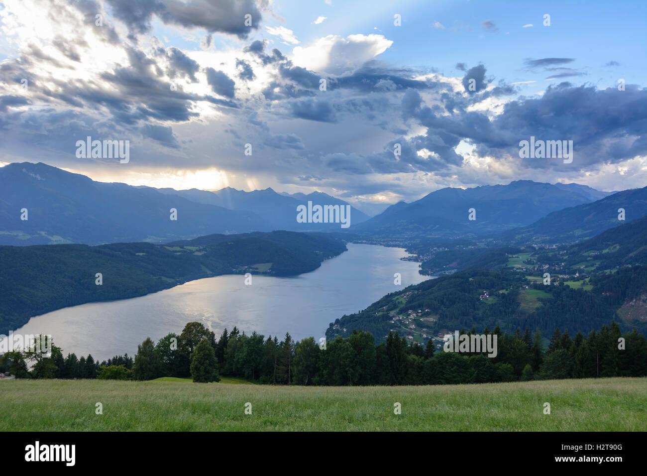 Millstätter See, Lake Millstatt: view to Lake Millstatt, , Kärnten, Carinthia, Austria - Stock Image