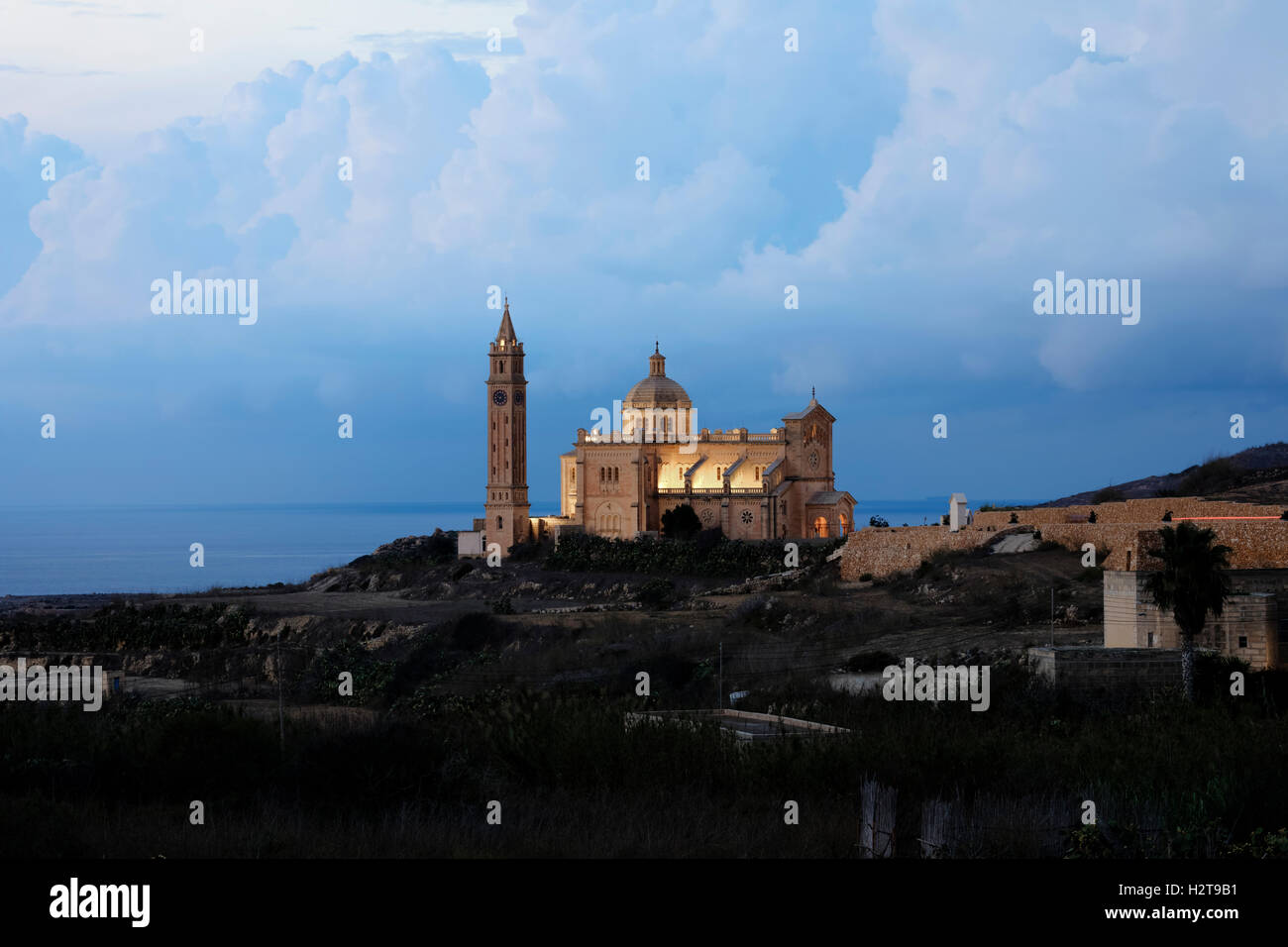 Basilica Ta Pinu, Gharb, Gozo, Malta - Stock Image