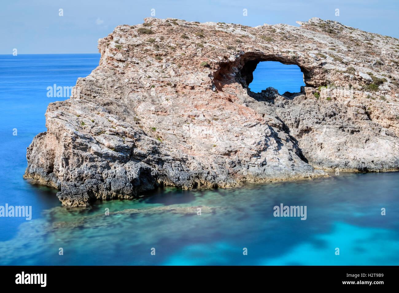 Blue Lagoon, Comino, Gozo, Malta Stock Photo