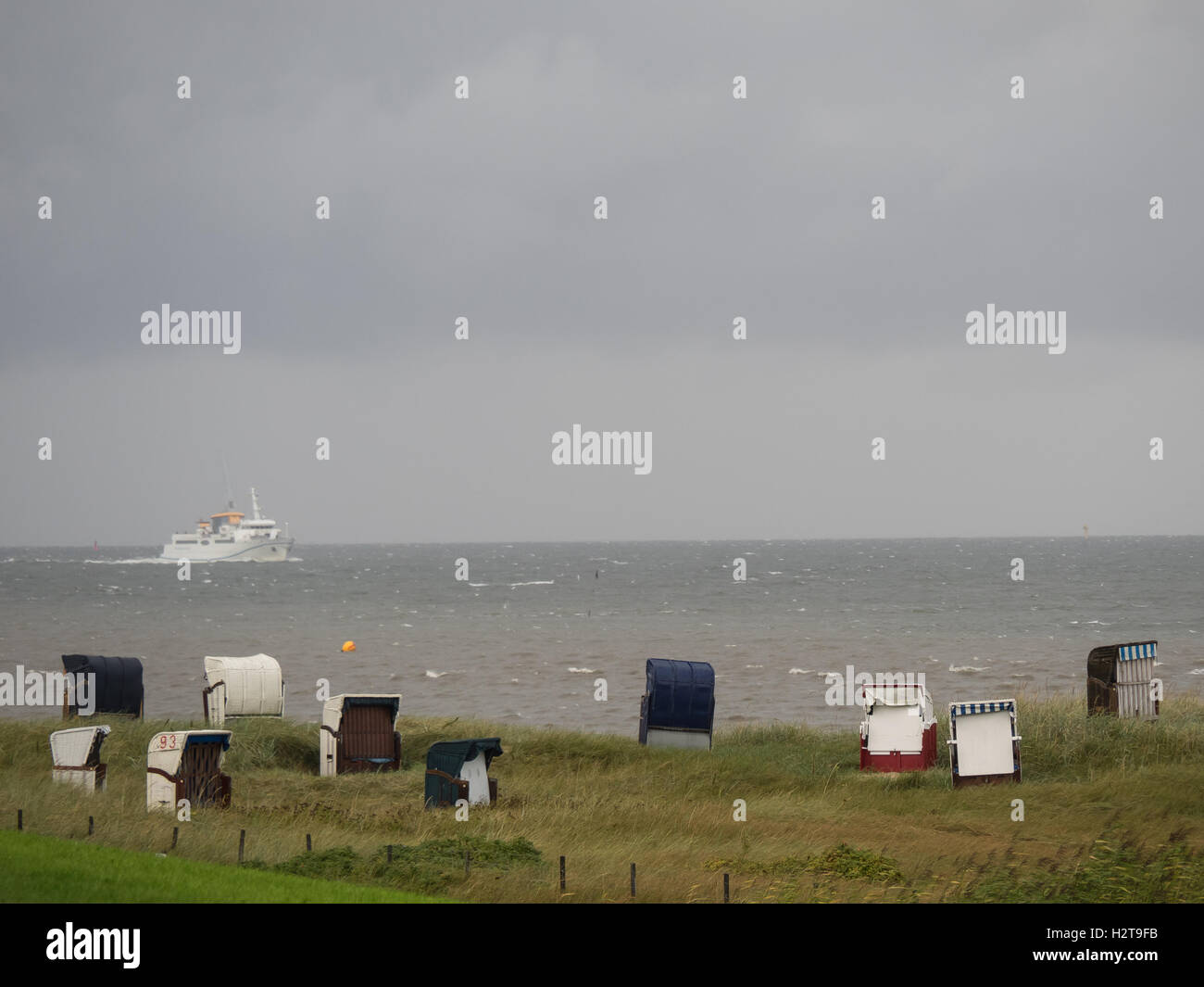 Cuxhaven at the german north sea Stock Photo