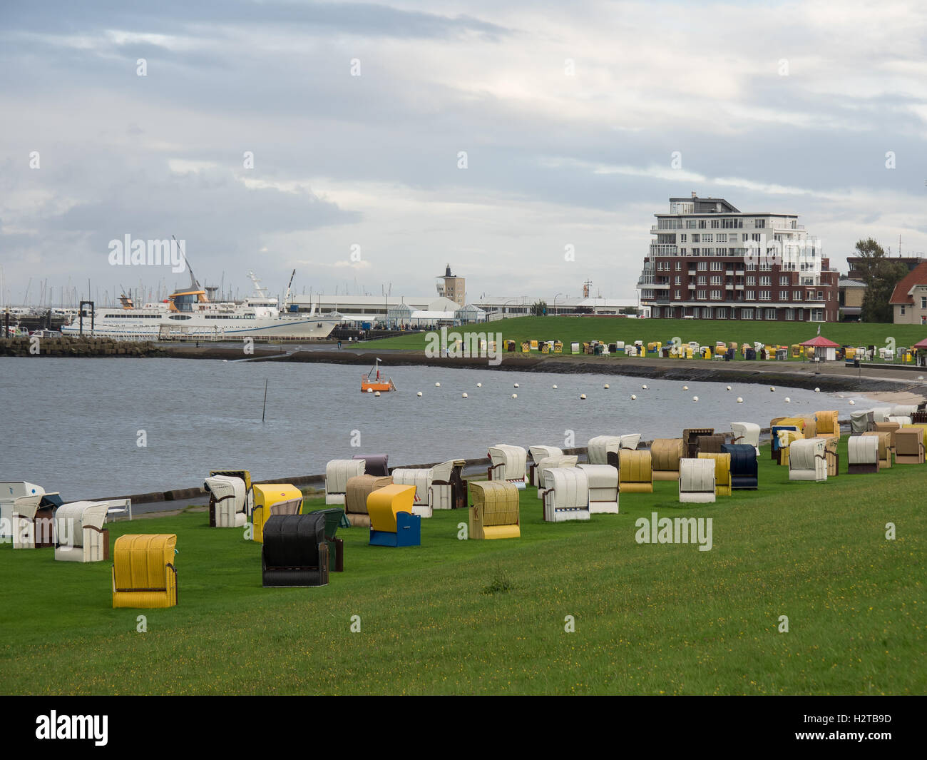 beach of cuxhaven - Stock Image