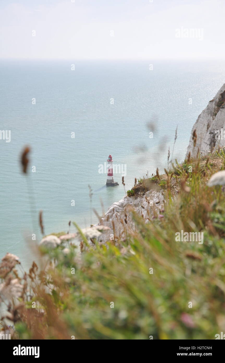 Lighthouse at Beachy Head - Stock Image