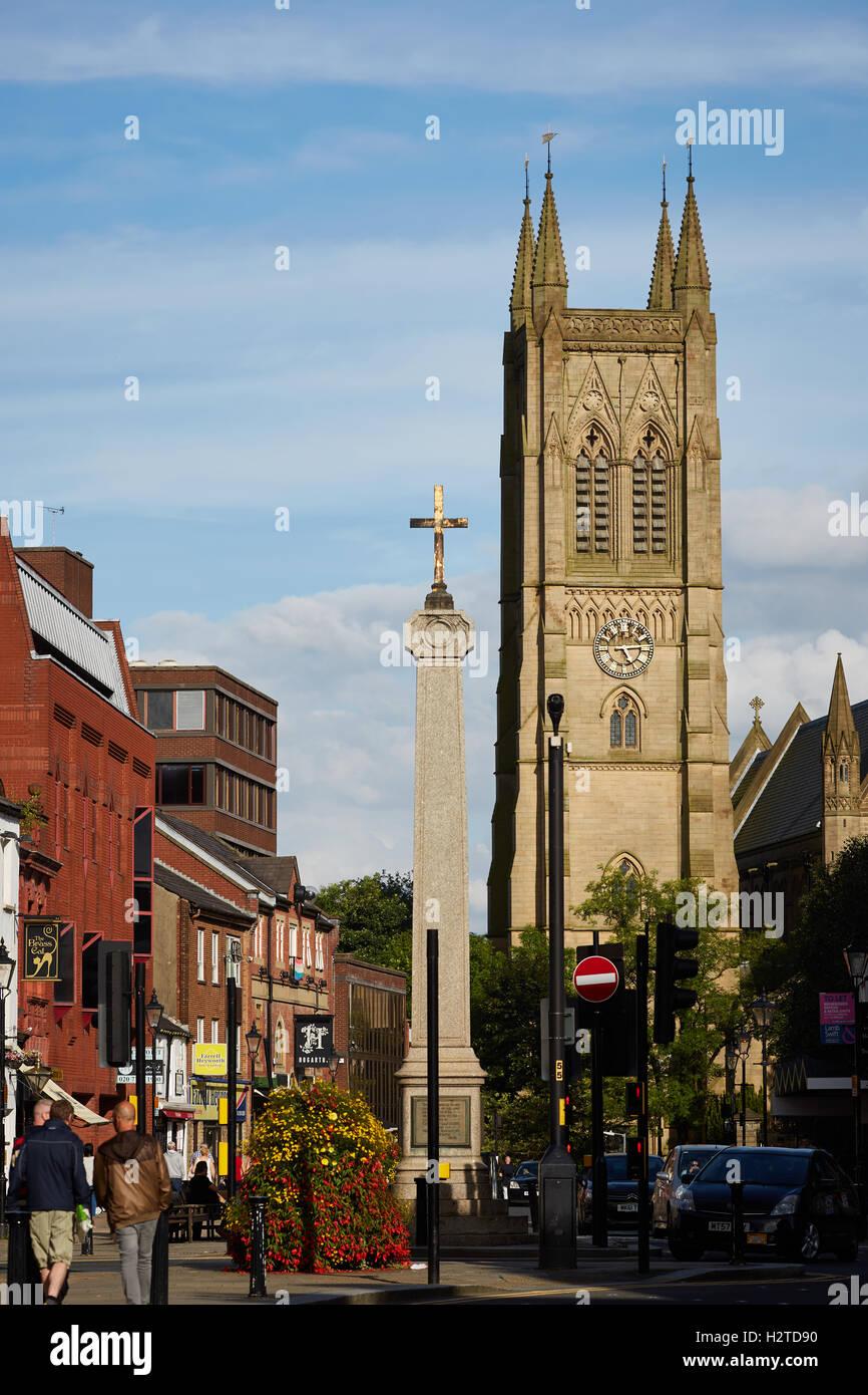 Bolton Parish Church Lancashire   town centre landmark Church religion religious architecture building exterior - Stock Image