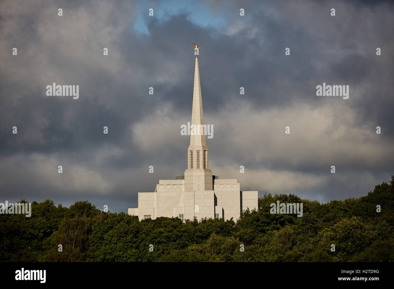 The Preston England Temple is the 52nd operating temple of The Church of Jesus Christ of Latter-day Saints  Chorley - Stock Image