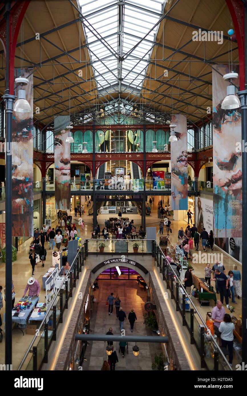 Bolton Market hall interior refurbished Bolton Market Hall listed Stock Photo: 122239213 - Alamy