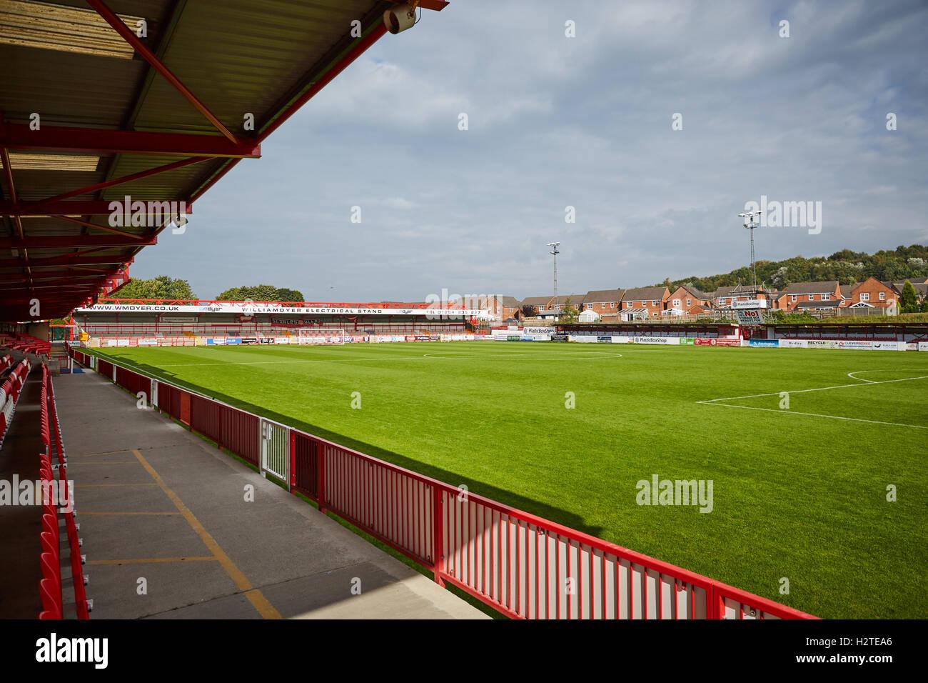 Accrington Stanley Stadium ground    Lancashire stadia venue sporting place home structure architectural architect - Stock Image