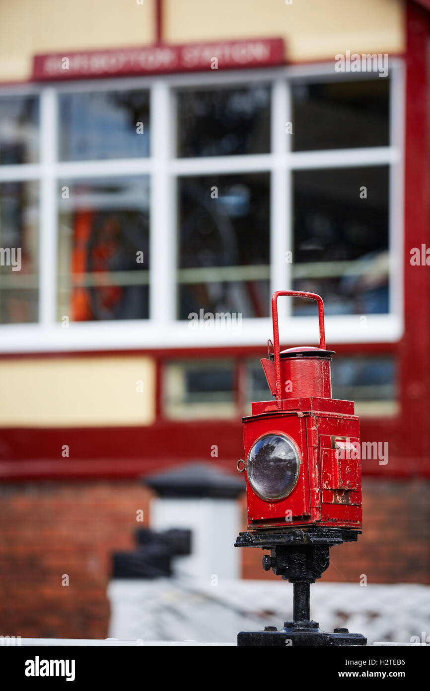 ELR East Lancashire Railways signal box - Stock Image
