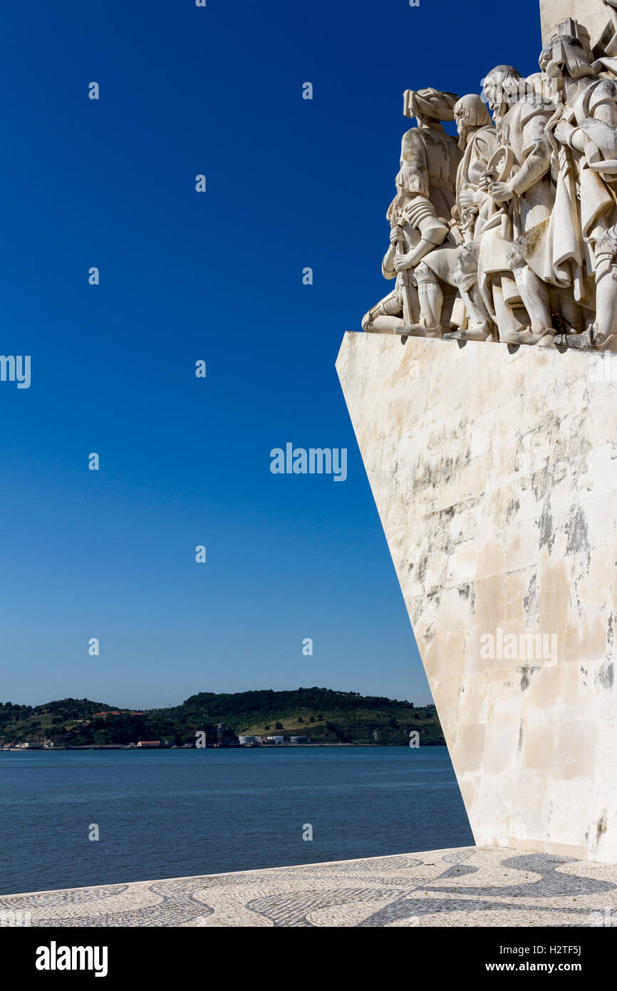 Monument to the Discoveries is a monument on the Tagus River estuary in Lisbon - Stock Image