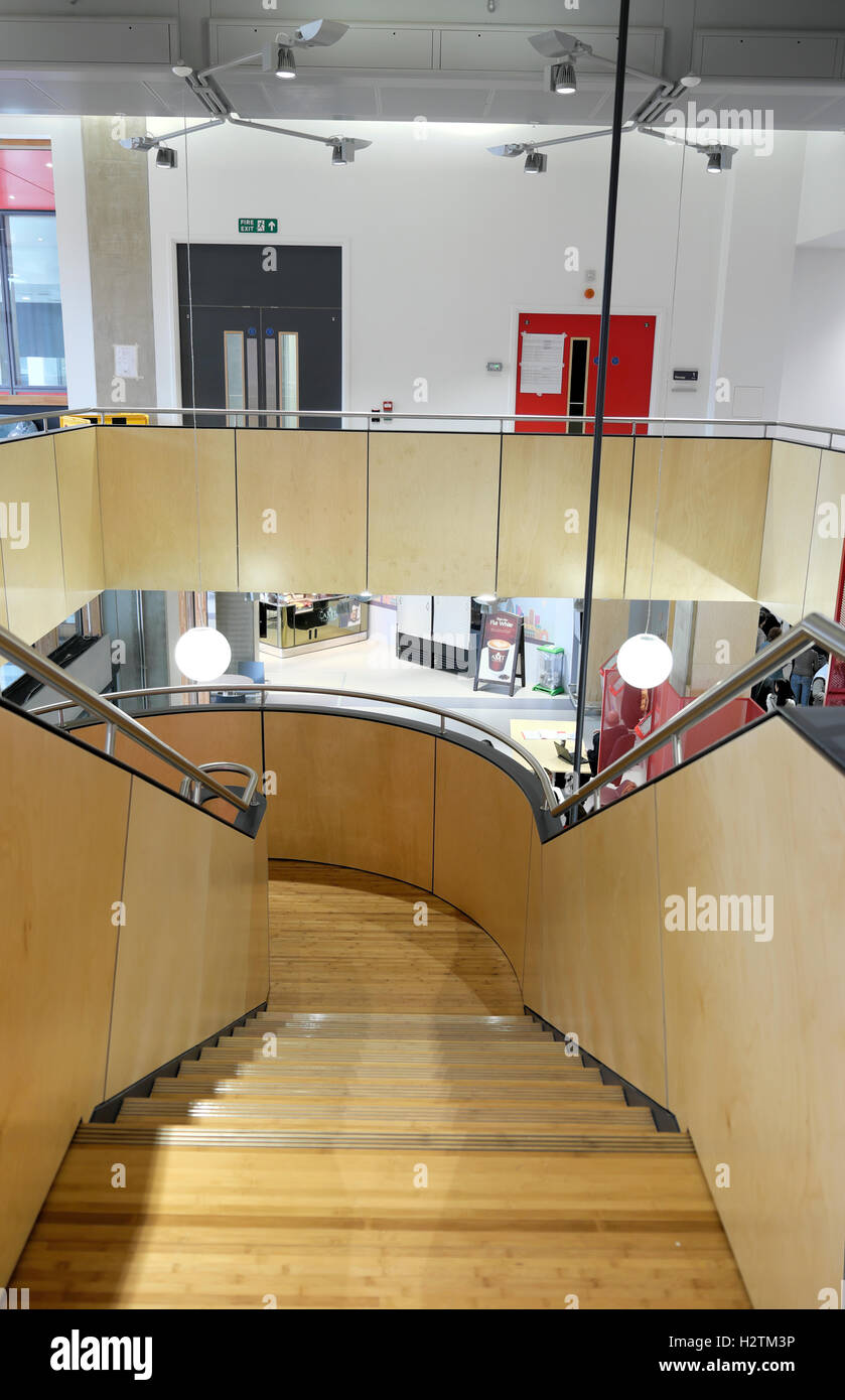 Stairwell at Guys Hospital Cancer Centre in Southwark, South London, England, UK  KATHY DEWITT - Stock Image