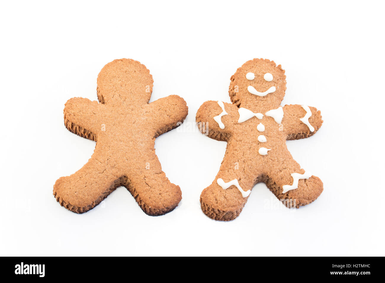 Concept of Personality, Gingerbread  Man Cookies. - Stock Image