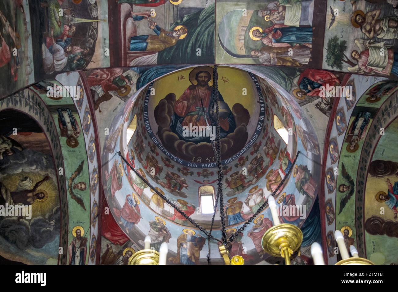 Cupole of Secu monastery - Stock Image