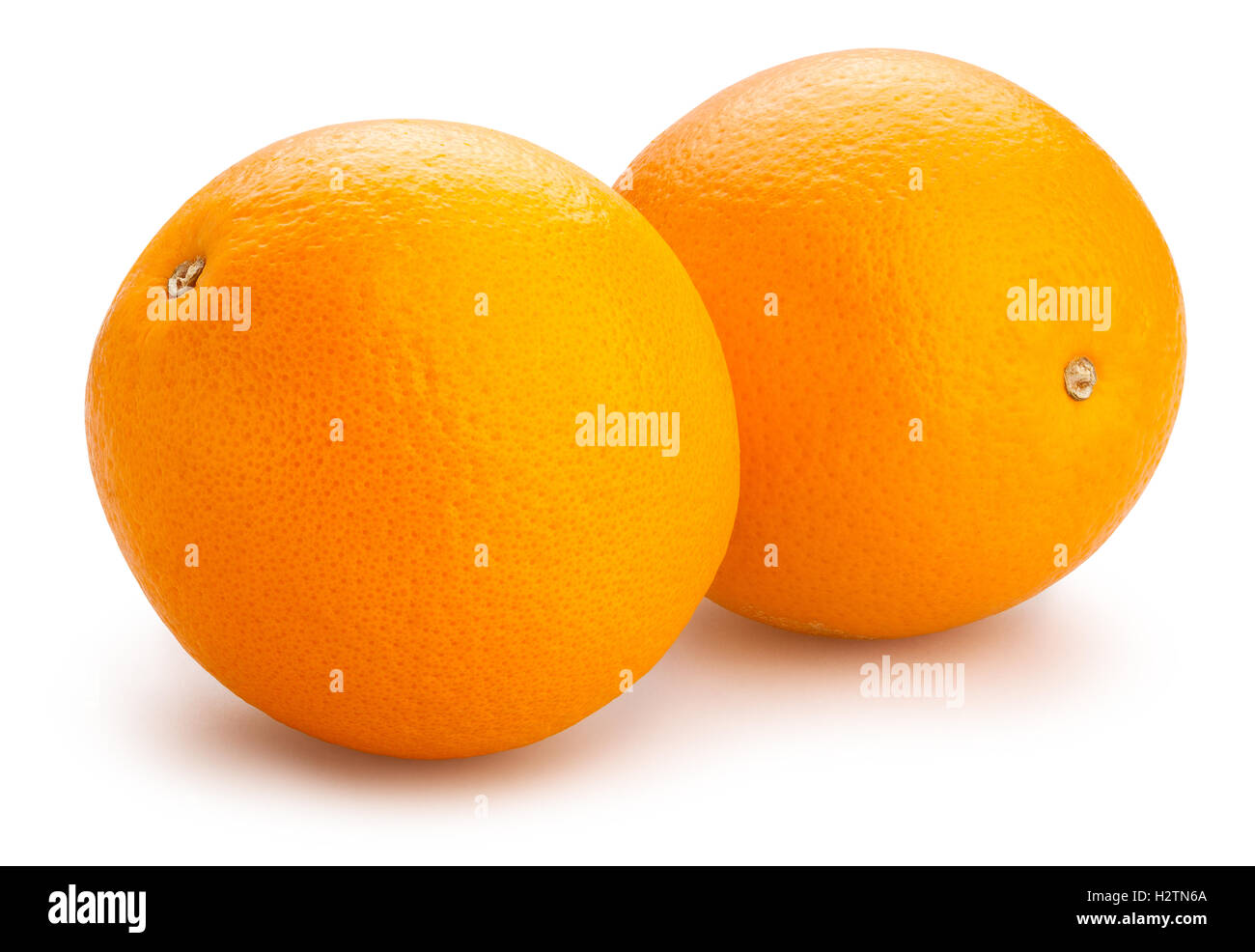 oranges isolated - Stock Image