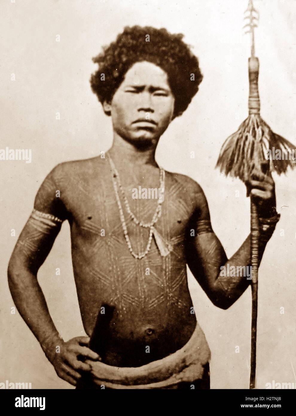 Jamaican warrior - Victorian period - Stock Image