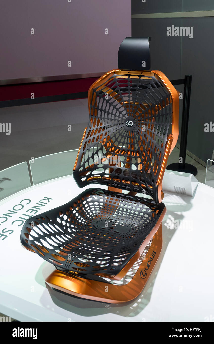 Concept kinetic seat by Lexus at Paris Motor Show 2016 - Stock Image