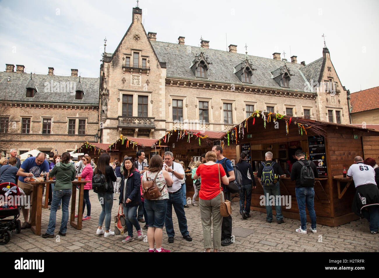New Provost lodging and stalls at Prague Castle Stock Photo