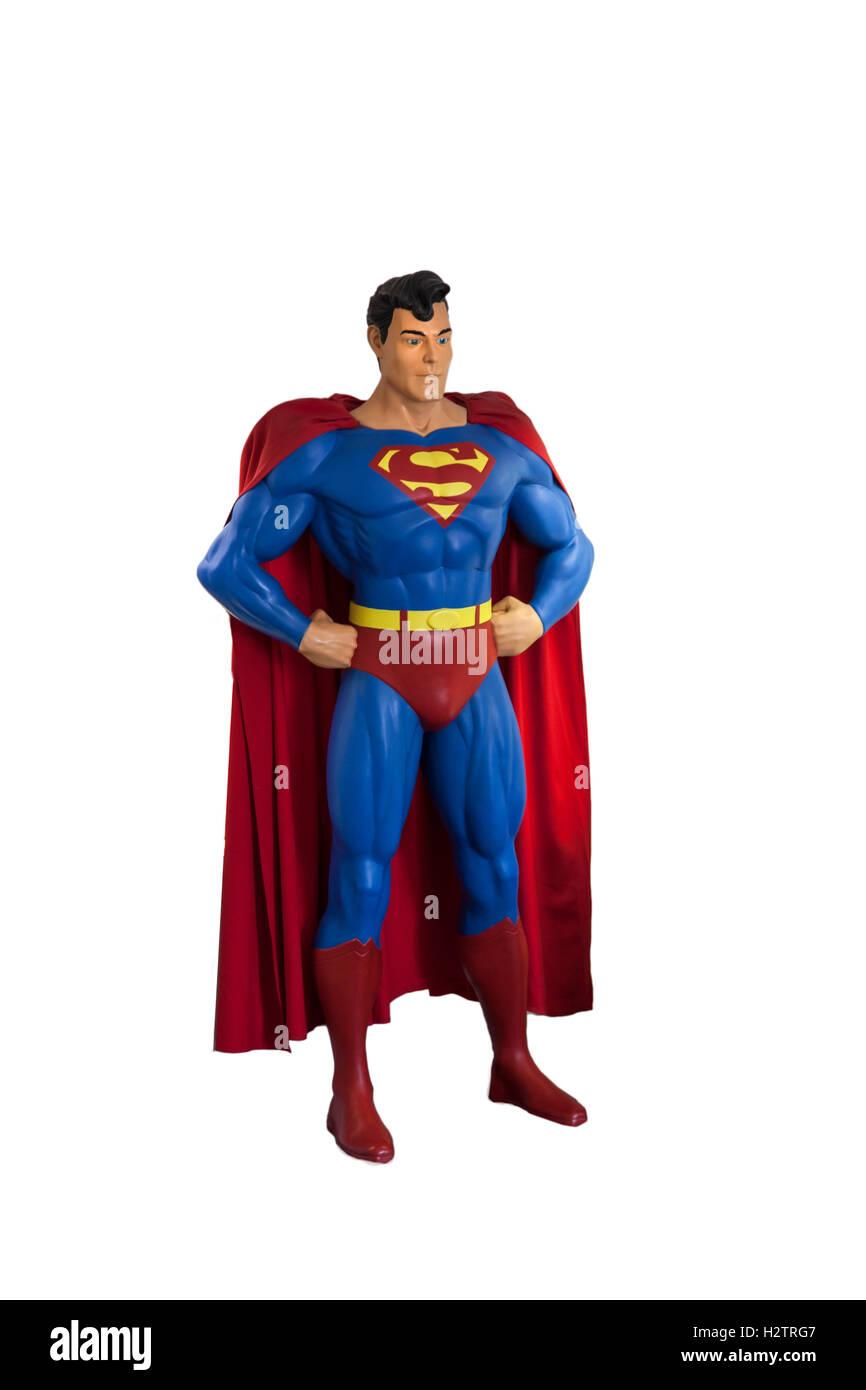 Superman model - Stock Image