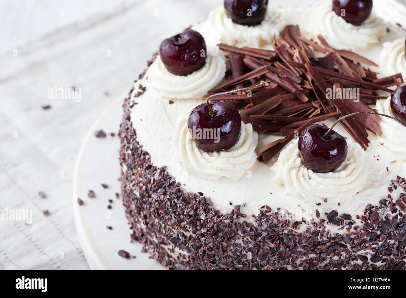 Black forest cake, Schwarzwald pie - Stock Image