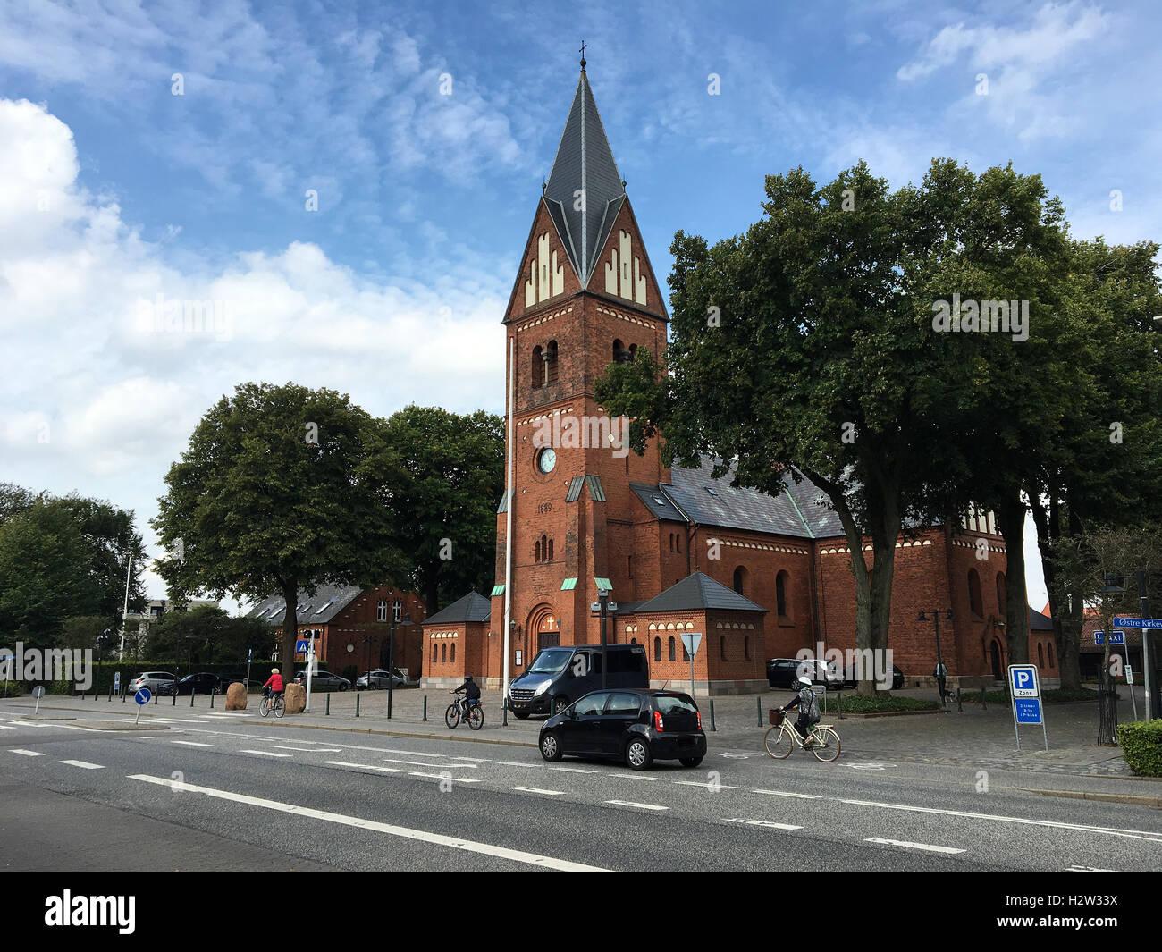 Travel to Europe under summer,Herning in the Denmark Stock Photo