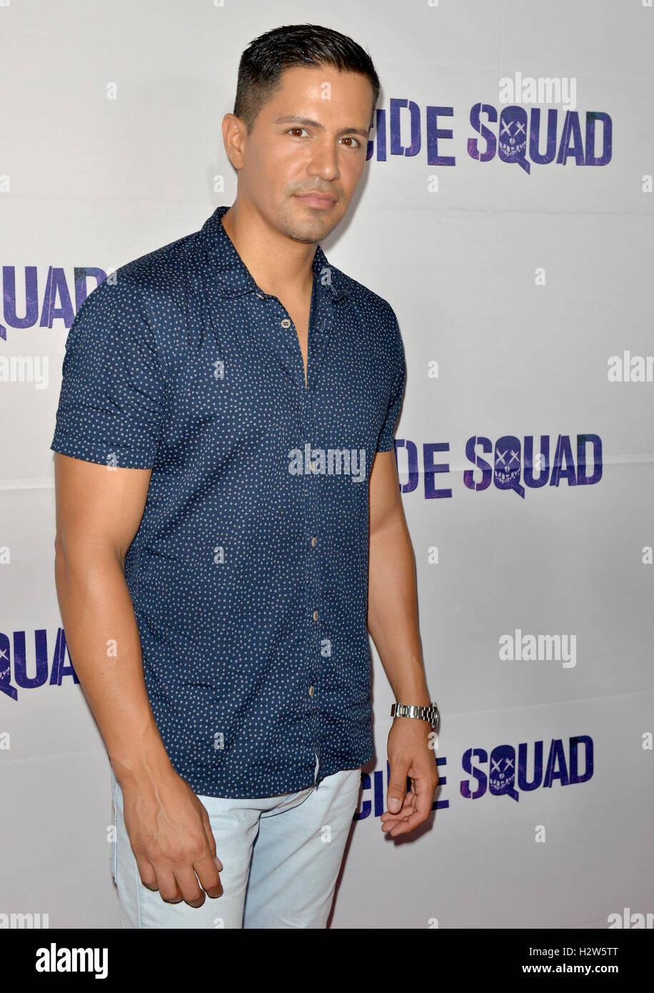 Suicide Squad' Wynwood Block Party and Mural Reveal in Miami, Florida  Featuring: Jay Hernandez Where: Miami, - Stock Image