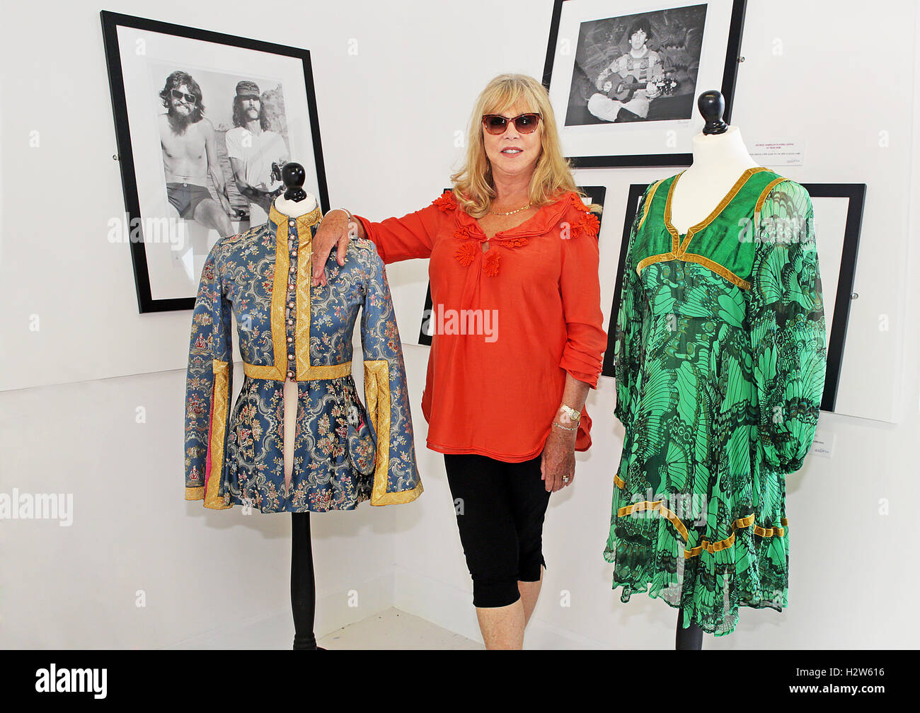 Pattie Boyd at Her New Photography Exhibition 'George, Eric and Me'  at The Beatles Story - Pier Head Liverpool - Stock Image