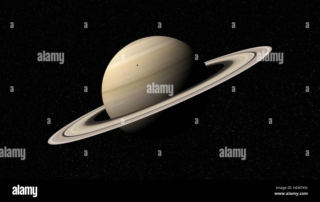 3d rendering of the planet Saturn. Elements of this image furnished by NASA - Stock Image