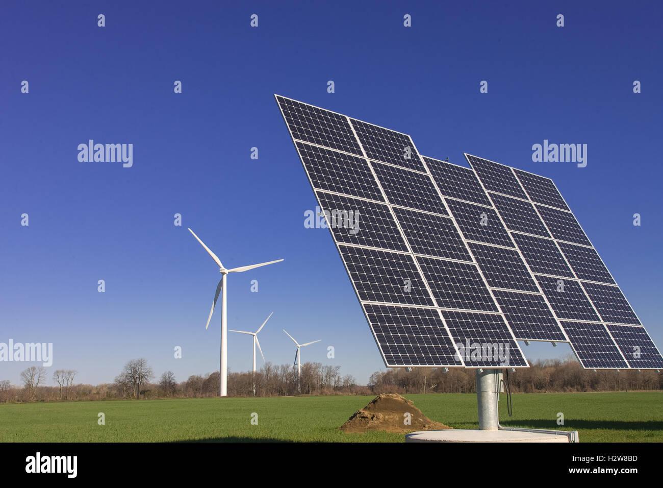 Wind Solar Farm Stock Photos Amp Wind Solar Farm Stock