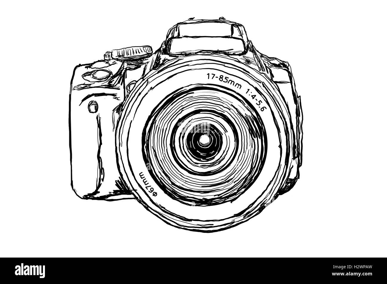 dslr camera front view stock photo 122268241 alamy