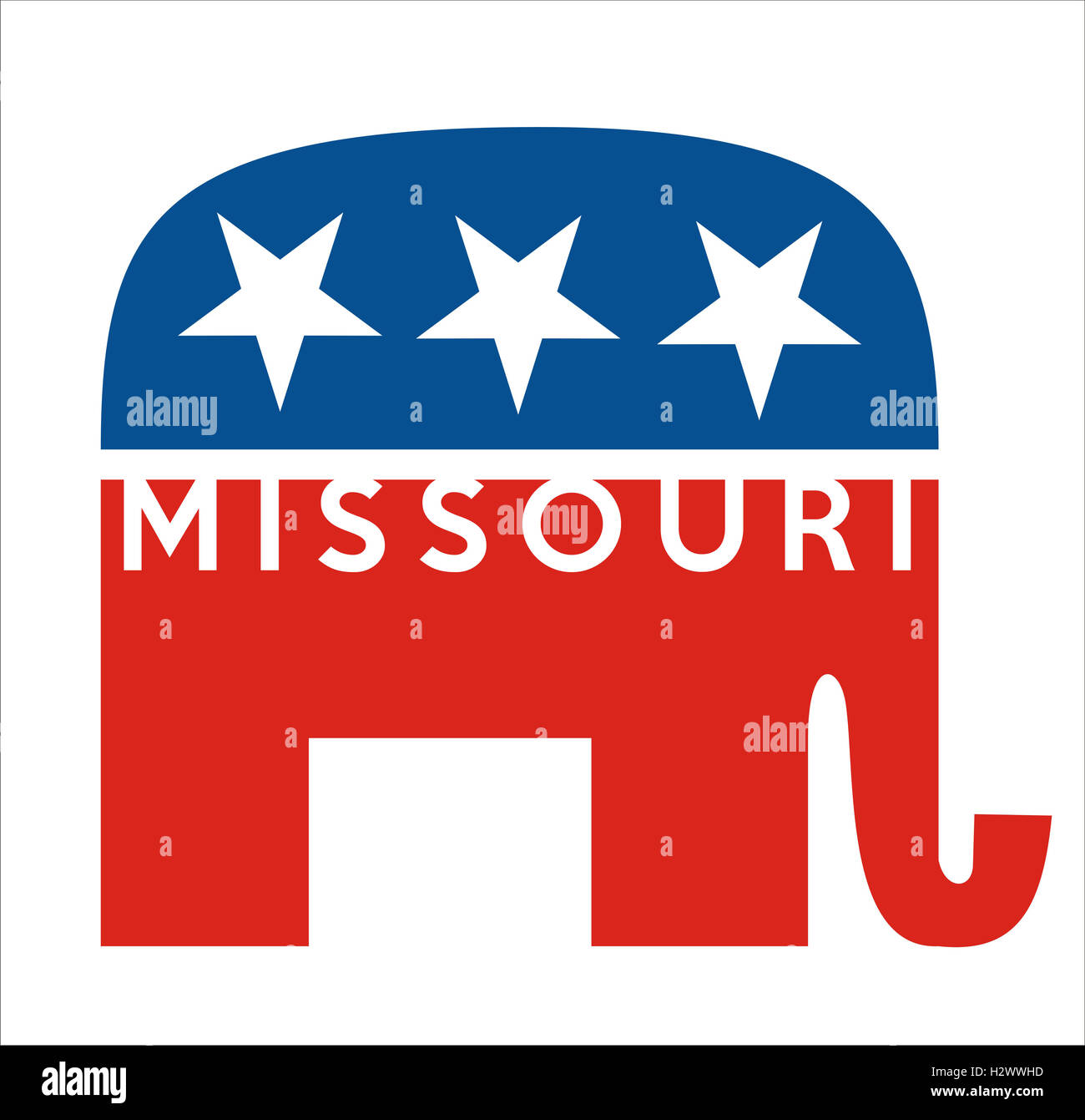 republicans Missouri - Stock Image