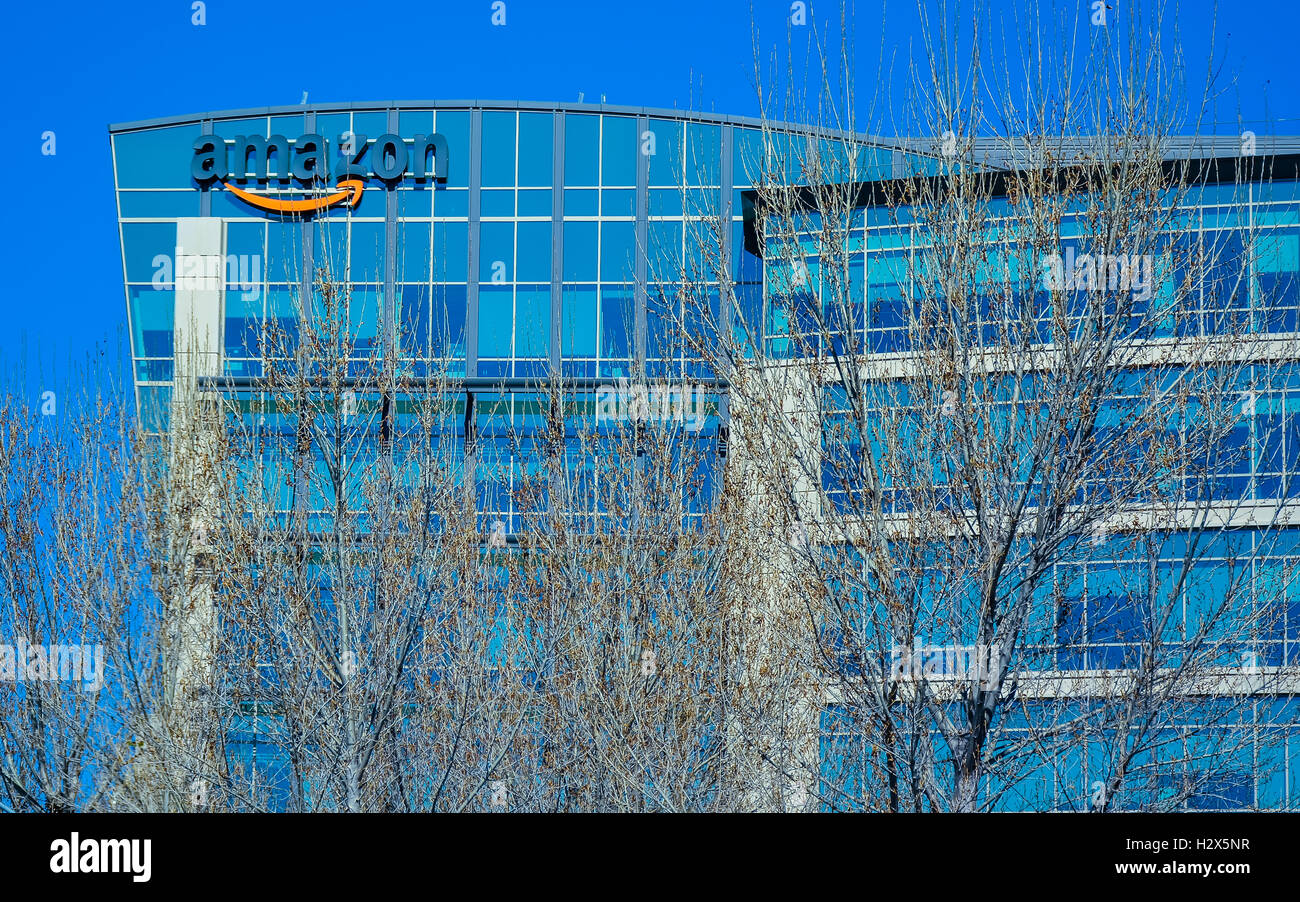 Sunnyvale, CA, USA - Feb. 21, 2016: Amazon Lab 126. Amazon Lab126 is an electronics research and development company. - Stock Image