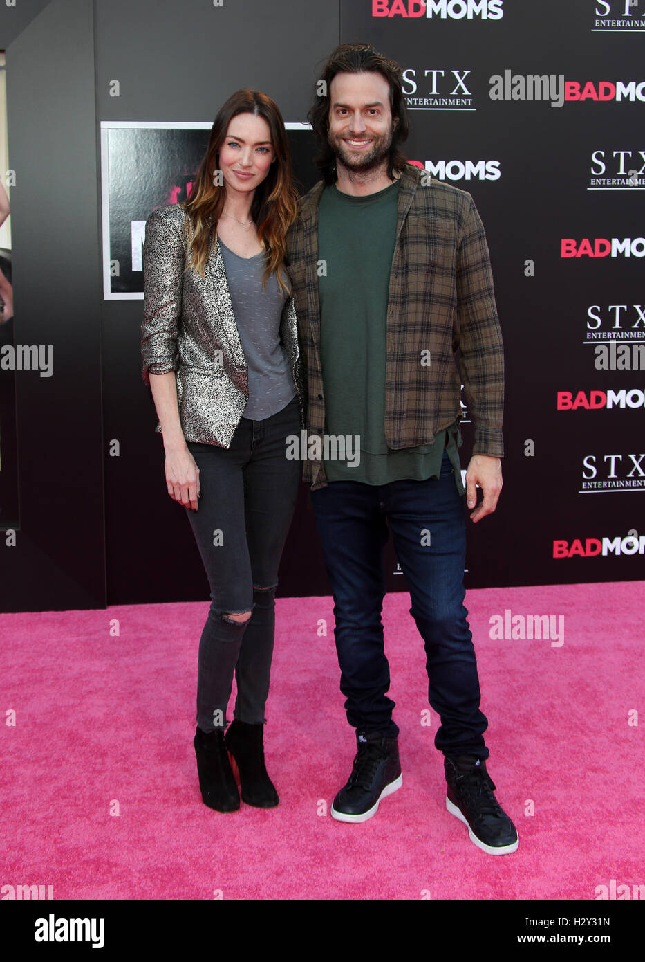 Los Angeles premiere of 'Bad Moms' - Arrivals  Featuring: Cassi Colvin, Chris D'Elia Where: Los Angeles, - Stock Image