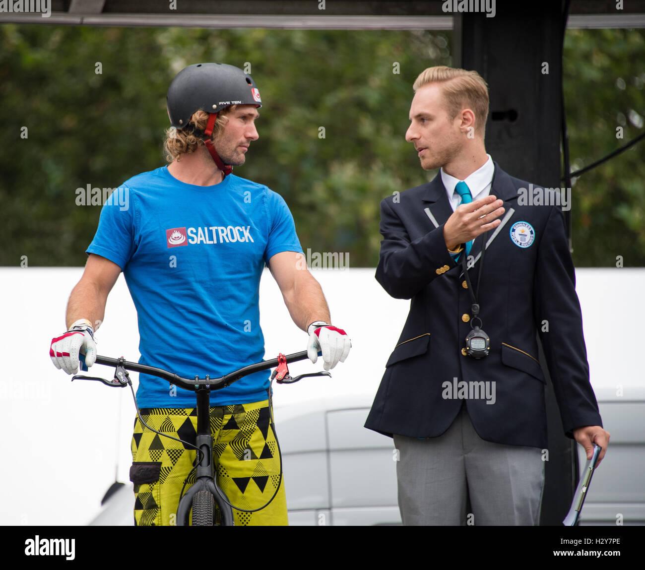 Mountain Bike Trials Expert Andrtei Burton Breaks Three Guiness