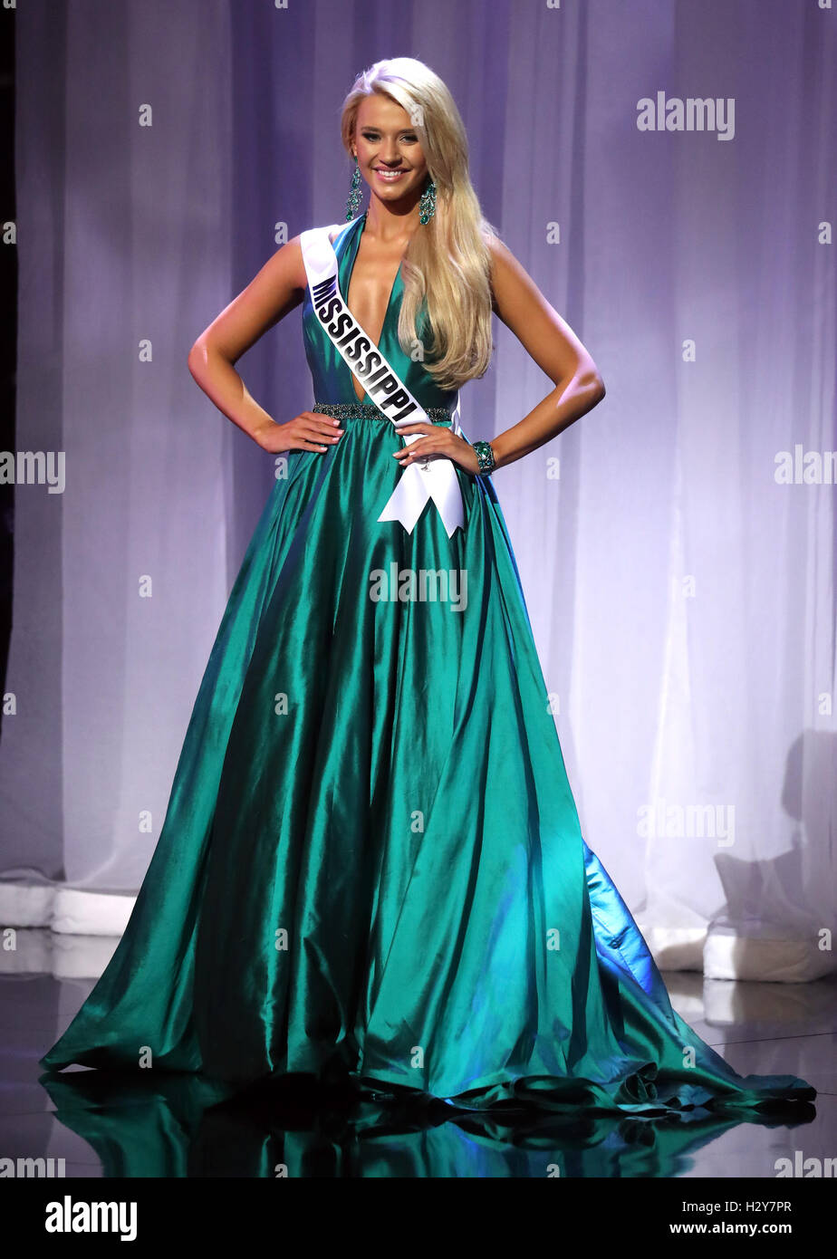 The 2016 Miss Teen USA Preliminary Competition at The Venetian Resort and Casino  Featuring: Miss Teen Mississippi - Stock Image