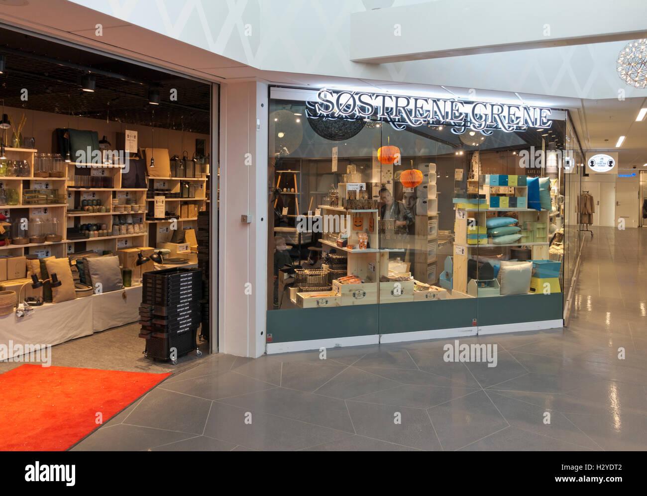 Søstrene Grene Shop In A Shopping Mall In Denmark Stock Photo