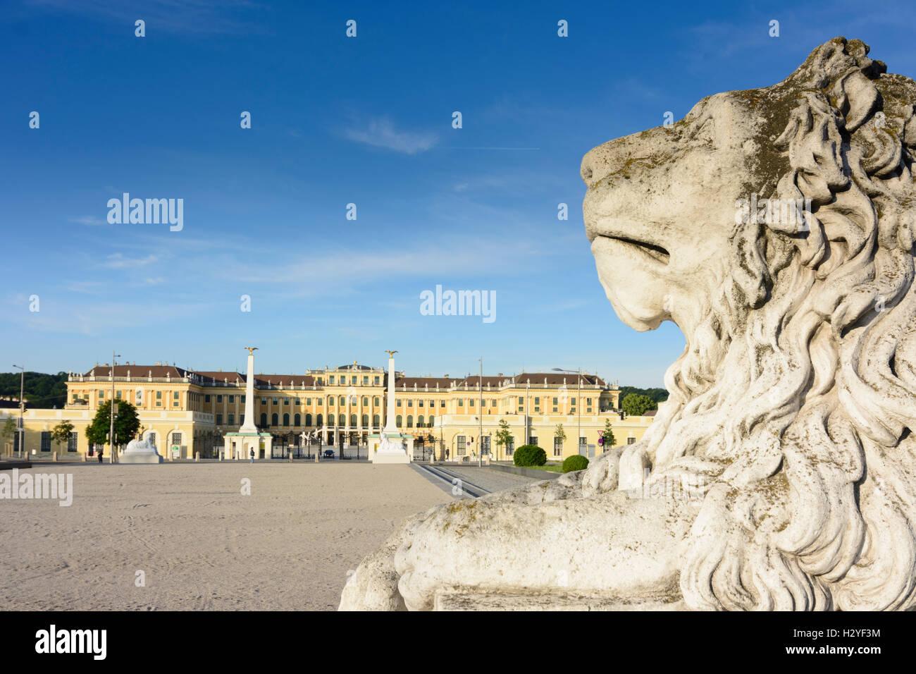 Wien, Vienna: palace chateau Schloss Schönbrunn, 13., Wien, Austria Stock Photo