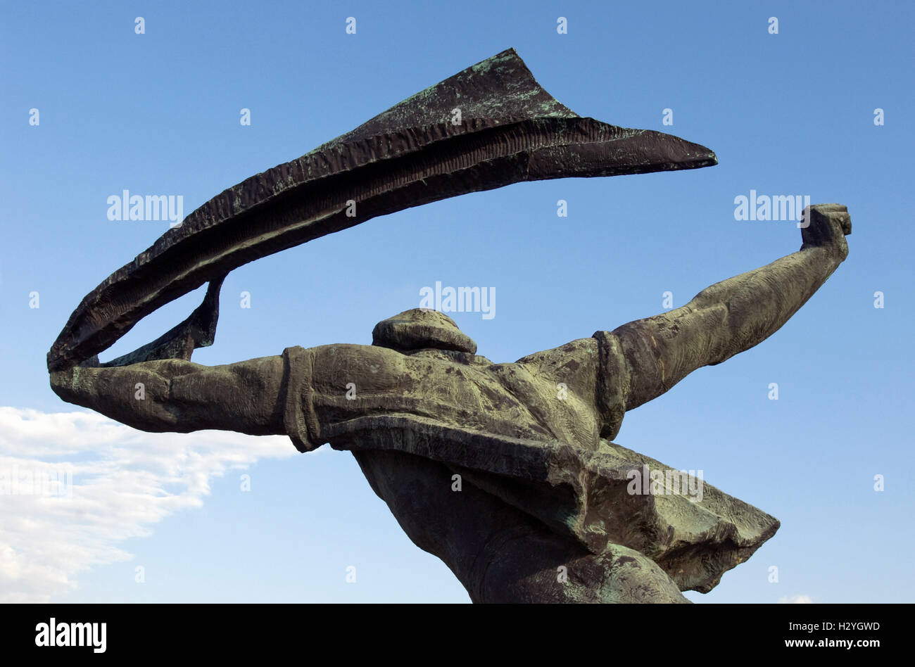 Republic of Councils Monument by Istvan Kiss, Statue Park, Memento Park, Szoborpark, Budapest, Hungary, Europe - Stock Image