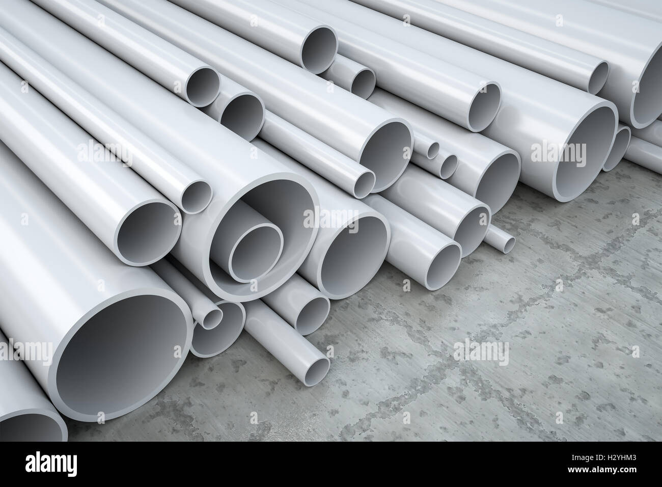 plastic pipes - Stock Image