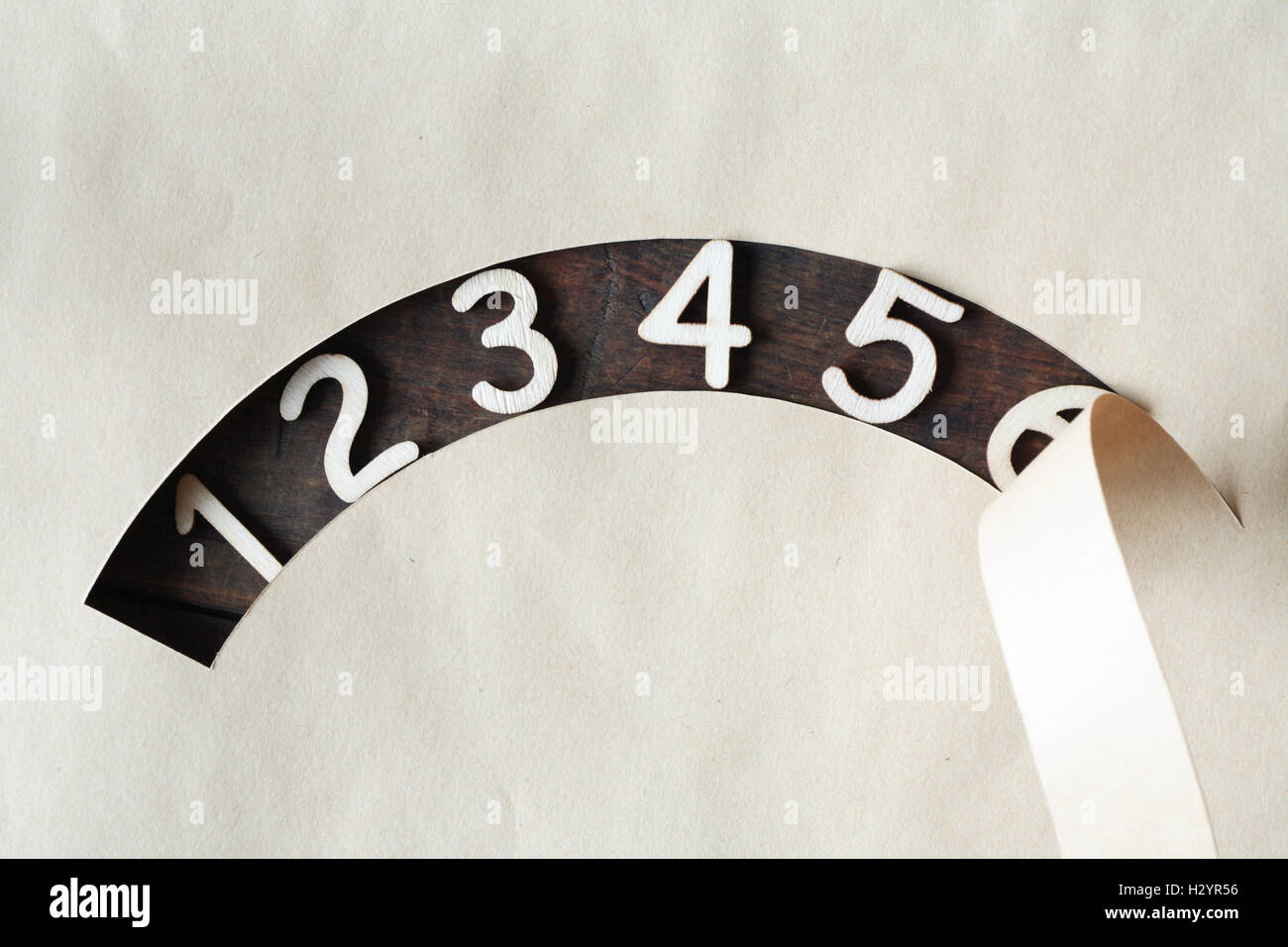 Wooden Digits - Stock Image