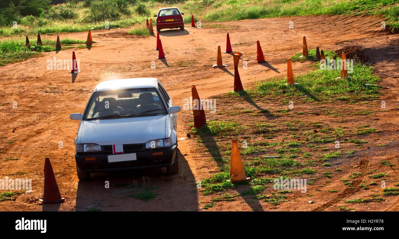 rural driving school - Stock Image