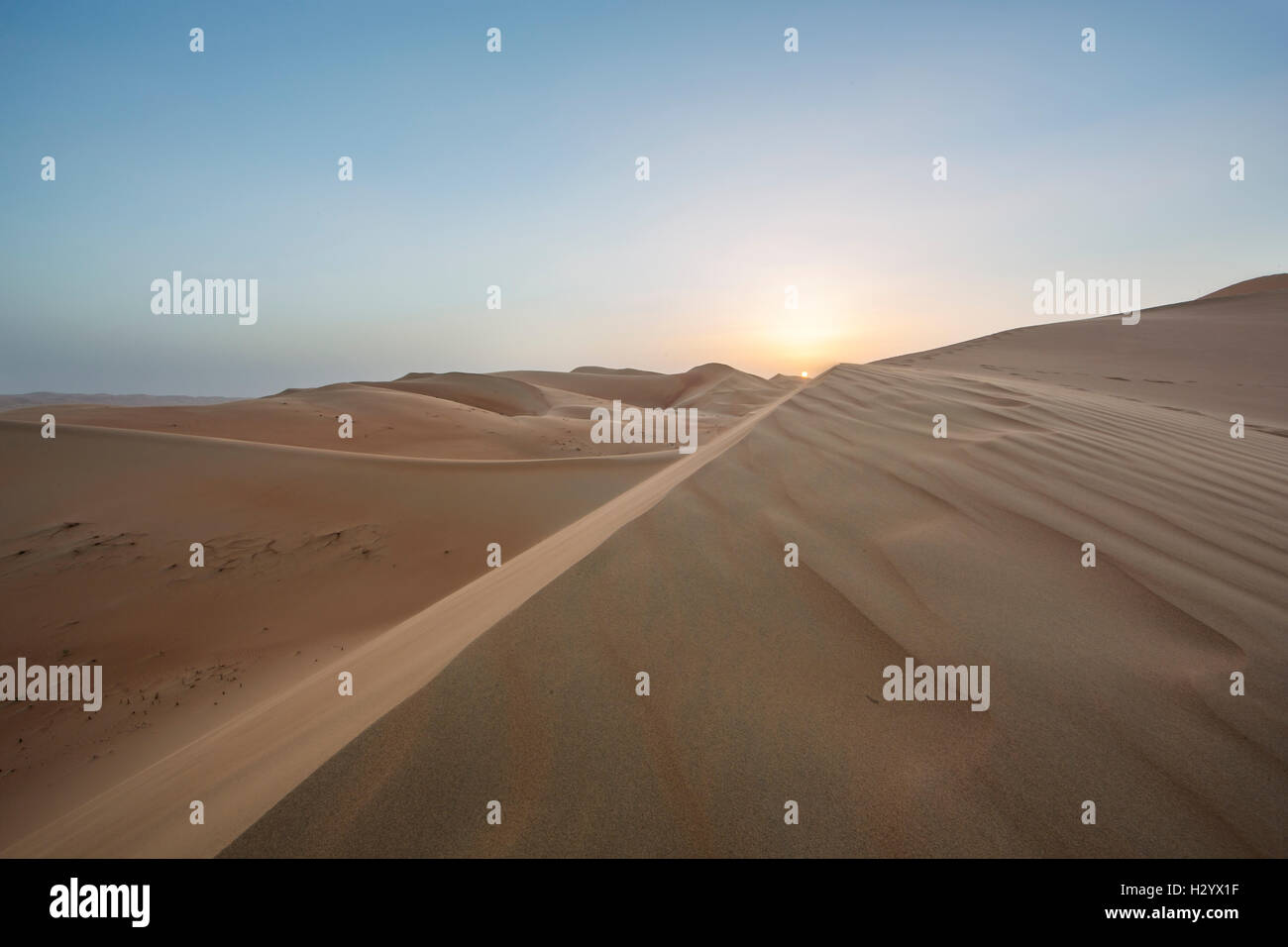Massive sand dunes of the Empty Quarter desert, covering large area in UAE, KSA and Oman - Stock Image