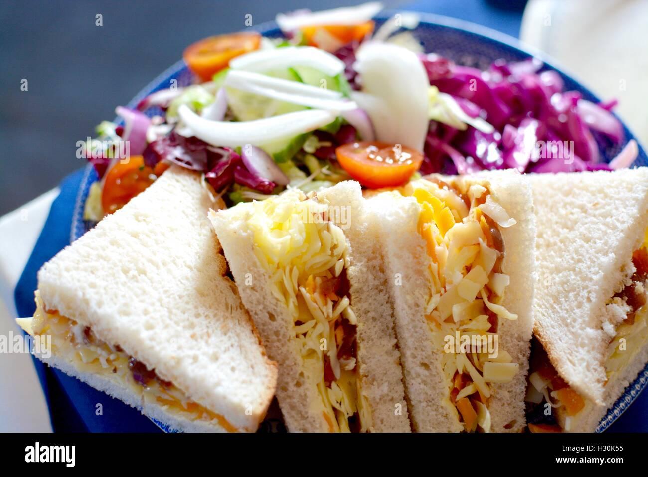 Cheese Sandwich - Stock Image