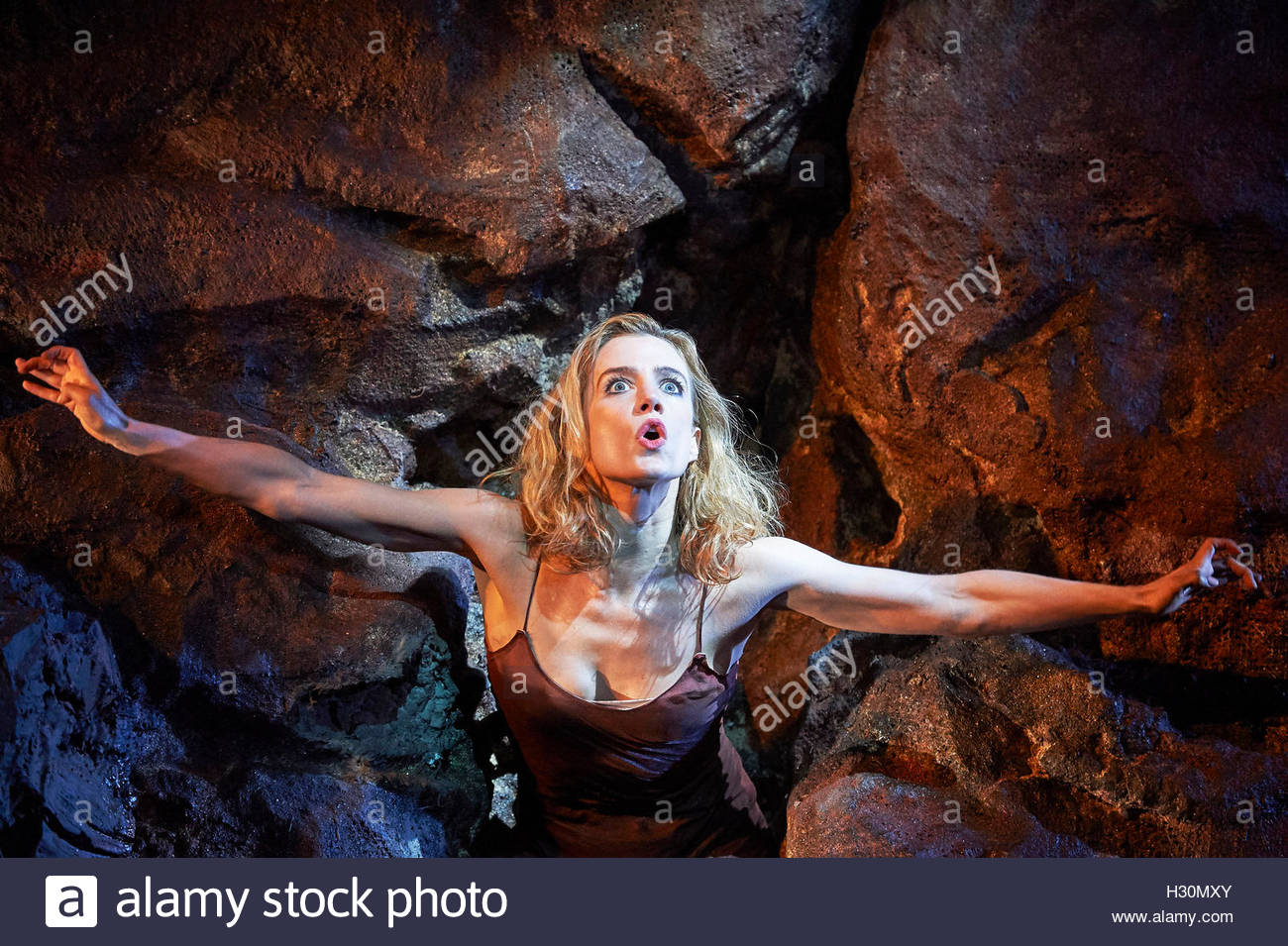 No's Knife by Samuel Beckett, conceived and performed by Lisa Dwan, directed by Lisa Dwan and Joe Murphy. Opens - Stock Image