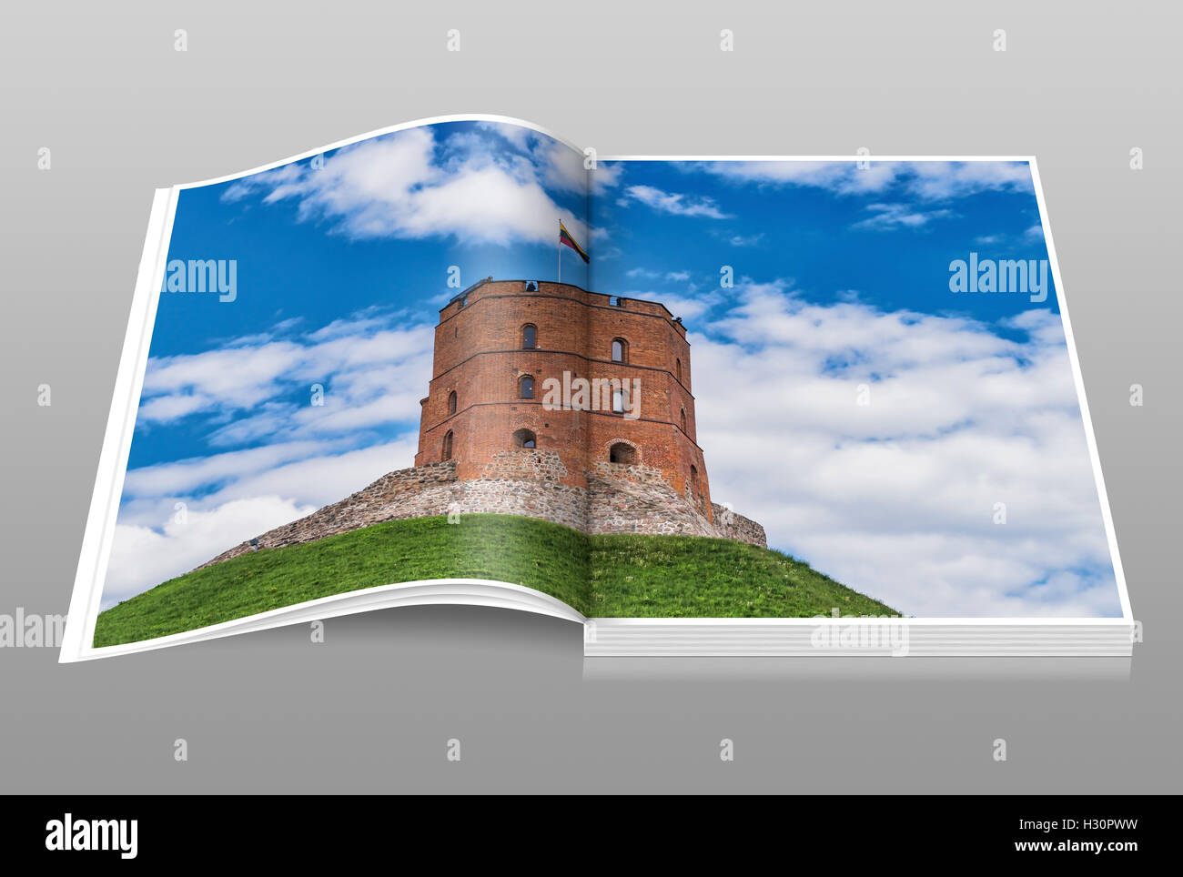 The Gediminas Tower is the landmark of Vilnius, Lithuania, Baltic States, Europe Stock Photo